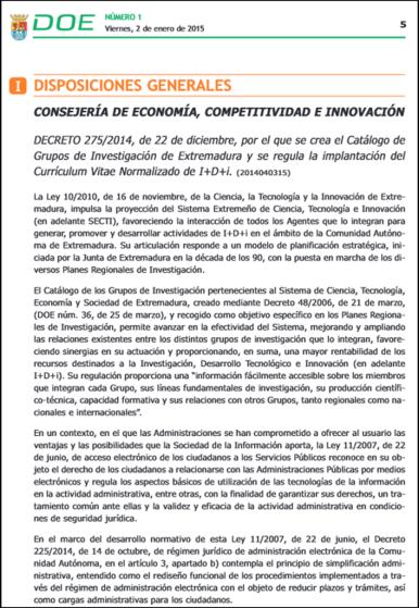 Curriculum Vitae Normalizado De I D I Pildoras